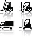 Forklift,Symbol,Computer Icon,Truck,Pick-up Truck,Freight Transportation,Silhouette,Shipping,Delivering,Transportation,Picking Up,Manual Worker,Cargo Container,Loading,Tow Truck,Land Vehicle,Mode of Transport,Sign,Clip Art,Driving,Black Color,Machinery,Collection,Unloading,Truck Up,Single Object,White Background,Series,warehoused,Reflection,Traffic,Badge,Isolated,Communication,Vector,Technology,Motion,lift truck,tonnage,Image,Set