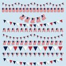 Bunting,Flag,Party - Social Event,American Culture,American Flag,Fourth of July,Pennant,USA,Vector,Holidays And Celebrations,Holiday,Illustrations And Vector Art