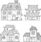 House,Sketch,Doodle,Cottage,Residential Structure,Built Structure,Building Exterior,Hut,Black And White,Line Art,Cartoon,Residential District,Roof,Garage,Pipe - Tube,White Background,Icon Set,Ilustration,Outline,Real Estate,Architecture,Apartment,Design Element,Plant,Vector,Bungalow,Doorbell,Computer Graphic
