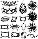 Tattoo,Indigenous Culture,Vector,Lifestyle,Vector Cartoons,Illustrations And Vector Art,Young Adults,Symbol,Shape,Black Color,Design