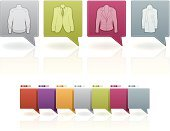 Computer Icon,Symbol,Jacket,Clothing,Violet,Yellow,Pink Color,Vector,White,Illustrations And Vector Art,Household Objects/Equipment,Man's Jacket,Fashion,Orange Color,outwear,White Background,Brown,Objects/Equipment,Beauty And Health,Vector Icons,Long Garment,Rocker Jacket,Coat,Sweater,Green Color,Blue,Sign,Dress,Gray
