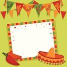 Mexican Culture,Carnival,Party - Social Event,Sombrero,Invitation,Picture Frame,Chili Pepper,Bunting,Greeting Card,Celebration,Traditional Festival,Decoration,Vector,Cactus,Copy Space,Streamer,Knick Knack,Illustrations And Vector Art,Vector Ornaments,Pepper - Vegetable,Office Supply,Red,Ilustration,Yellow,Parties,Vector Backgrounds,Green Color,Ornate,Holidays And Celebrations