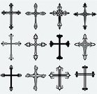 Cross,Cross Shape,Catholicism,Christianity,Crucifix,Symbol,Vector,Church,Protestantism,Silhouette,Spirituality,Religion,Praying,Arts And Entertainment,Religion,Arts Symbols,Vector Icons,Illustrations And Vector Art,Concepts And Ideas,Symbols Of Peace,Ilustration,Resurrection,Cemetery