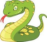 Snake,Isolated,Reptile,Cute,Reptiles,Illustrations And Vector Art,D.J. White,Animals And Pets,Vector Cartoons,Smiling,Animated Cartoon,Poisonous Organism,Animal Skin,Animal