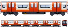 Subway Train,Subway Station,Train,Side View,Railroad Car,Underground,Car,Commuter Train,Tube,Covered Wagon,Toy Wagon,Wheel,Railroad Track,Front View,Electricity,Vector,Modern,Power Line,Back - Furniture Part,Mode of Transport,Railing,Looking At View,Transportation,Public Transportation,Passenger,Suburb,Locomotive