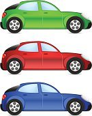 Car,Side View,Modern,Green Color,Blue,Red,Tire,Wheel,Computer Icon,Traffic,Small,Set,Transportation,Isolated Objects,Driving,Land Vehicle,Transportation,Mode of Transport,Vector,Remote,Ilustration,Collection,Hatchback,Drive,Isolated-Background Objects,Illustrations And Vector Art,Symbol,Vector Cartoons