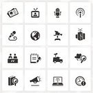 Computer Icon,Symbol,webcast,Icon Set,Journalism,Broadcasting,Journalist,Research,Interview,The Media,Bullhorn,Radio,Media Interview,Information Medium,Radio Broadcasting,Television Studio,Globe - Man Made Object,Megaphone,Newscaster,Newspaper,Microphone,Vector,Interactive Television,Television Broadcasting,Television Set,Television Camera,Camera - Photographic Equipment,Note Pad,Exploration,Studio,Set,Interface Icons,News Truck,Antenna - Aerial,Deadline,Investigating Journalism,Earth,Communications Tower