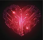 Heart Shape,Technology,Circuit Board,Digitally Generated Image,Love,Energy,Red,Valentine's Day - Holiday,Backgrounds,Computer Software,Electronics Industry,Abstract,Vector,Valentine Card,Industry,Silhouette,Science,Computer Graphic,Illuminated,Construction Industry,Mechanic,Engineering,Connection,Symbol,Ilustration,Ideas,Computer,Art,Creativity,Mother Board,Single Line,Glowing,Textured,Shape,shaped,Design,Computer Part,Black Color,Modern,Dark,Shiny