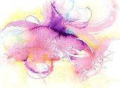 Watercolor Painting,Paintings,Abstract,Painted Image,Purple,Backgrounds,Ink,Sparse,Brush Stroke,Surrealism,Colors,Modern,Arts Backgrounds,Bright,Arts And Entertainment,Arts Abstract,Brightly Lit,Vibrant Color,Textured,Freshness,Exoticism