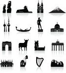 Brandenburg Gate,Symbol,Silhouette,Berlin,Statue,Lisbon - Portugal,Torre de Belem,Egypt,Urban Skyline,Michelangelo's David,Spain,Mt Fuji,Computer Icon,Famous Place,Kuwait,Florence - Italy,Italy,Monument,Mt Rushmore National Monument,Moai Statue,Dome Of The Rock,Jerusalem,Venice - Italy,China - East Asia,Travel,Republic of Ireland,Germany,Prague,Built Structure,Building Exterior,Sphinx,Japan,Arc de Triomphe,Great Wall Of China,Harp,Travel Destinations,Bull - Animal,Kuwait Towers,Portugal,Architecture,USA,Paris - France,France,Czech Republic,Reflection,Venice Gondola,Saint Mark Cathedral,Tyn Church