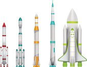 Rocket,Space Shuttle,Rocket Booster,Flying,Spaceship,Futuristic,Science,Computer Icon,People Traveling,Travel,Retro Revival,Vector,Illustrations And Vector Art,Set,Objects/Equipment,Clip Art,Journey,Exploding,Ilustration