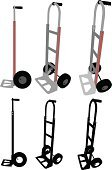 Hand Truck,Silhouette,Moving Equipment,Industrial Equipment,Vector,Ilustration