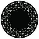Doily,Medallion,Lace - Textile,Animal Heart,Heart Shape,Circle,Pattern,Flower,Black Color,Floral Pattern,White,Vector,Backgrounds,swirly,Lily,Fragility,Symbol,Swirl,Illustrations And Vector Art,Part Of