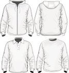 Sweatshirt,Hooded Shirt,Ilustration,Shirt,T-Shirt,Vector,Men,Button,White,Fashion,Polo,template,Clothing,Front View,Set,People,Sport,Beauty And Health,Fashion,Collar,Illustrations And Vector Art,Collection,Sleeve,Zipper,Long