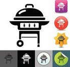 Barbecue Grill,Barbecue,Symbol,Computer Icon,Icon Set,Cooking,Summer,Vector,Simplicity,Ilustration,Single Object,Party - Social Event,Objects/Equipment,Holidays And Celebrations,Parties,Food And Drink,Isolated,Clip Art,Design Element