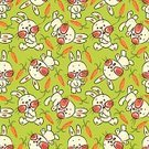 Rabbit - Animal,Seamless,Baby Animals,Vector Cartoons,Illustrations And Vector Art,Animal Backgrounds,Animal,Vector,Group Of Animals,Pattern,Animals And Pets
