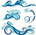 Wave,Water,Splashing,Sea,Sign,Silhouette,Swirl,Tide,Surf,Symbol,Concepts,Vector,Wet,Stream,Gale,Wind,Ilustration,Part Of,Nature,Illustrations And Vector Art,Design,Computer Graphic,Curve,Isolated-Background Objects,Isolated Objects,Pattern,Space,Blue,Summer,Flowing Water,Ripple,Nature,Cold - Termperature,Bodies Of Water,Vector Icons,Abstract,Liquid,Climate