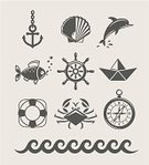 Nautical Vessel,Computer Icon,Symbol,Life Belt,Ilustration,Ship,Animal Shell,Shell,Crab,Wheel,Seashell,Sea,Anchor,Dolphin,Buoy,Beach,Wave,Outline,Compass,Anchor,Fish,Vector,Water,Set,Eyestalk,Cockleshell,Collection