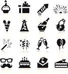 Computer Icon,Sparks,Birthday Cake,Birthday,Icon Set,Champagne,Firework Display,New Year's Eve,Party - Social Event,Eyeglasses,Bottle,Event,New Year's Day,Black Color,Exploding,Confetti,Silhouette,Ilustration,Vector,Club Dj,Candle,Celebration,Radio Dj,Invitation,Fun,Balloon,Gift,New Year,Toy,Piano,Music,Drink,Surprise,Cake,Entertainment,Hat,Letter,Vector Icons,Set,Rose - Flower,Alcohol,Illustrations And Vector Art,Isolated,Variation,Collection