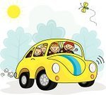 Car,Cartoon,Child,Family,Child's Drawing,Farmer,Happiness,Cheerful,Child Drawing,Smiling,Classroom