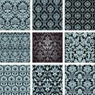 Silk,Pattern,Wallpaper Pattern,Floral Pattern,Flower,Fleur De Lys,Seamless,Black And White,Modern,Scroll,Swirl,Old-fashioned,Scroll Shape,Elegance,Retro Revival,Collection,Tile,Fabric Swatch,Shape,Repetition,Ornate,Textile,Spiral,Leaf,Victorian Style,Cultures,1940-1980 Retro-Styled Imagery,Decoration,Contour Drawing,Set,Rococo Style,Backgrounds,Gothic Style,Continuity,Classical Style,Vector Ornaments,Baroque Style,Vector Florals,Outline,Illustrations And Vector Art,Vector Backgrounds