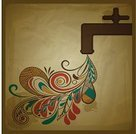 Drinking Water,Water,Swirl,Flowing,Textured,Drawing - Art Product,Retro Revival,Floral Pattern,Drop,Art,Grunge,Abstract,Crane - Construction Machinery,Faucet,Blue,Orange Color,Vector,Ilustration,Old-fashioned,Blob,Composition,Crumpled,Technology,Concepts And Ideas,Pollution,Pattern,Shape,Creativity,Backgrounds,Curled Up,Objects/Equipment,Red,Brown,Leaf,Environment,Old,Paper,Beige