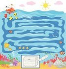 Child,Maze,Coloring,Pirate,Puzzle,Leisure Games,Fish,Baby,Water,Digitally Generated Image,Playing,Play,Street,Education,Lifestyle,Nature,Ilustration,Babies And Children,Vector Cartoons,Illustrations And Vector Art,Summer,Treasure Chest,Summer,Sea,Trunk