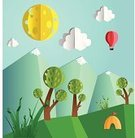Paper,Cut Out,Origami,Landscape,Tree,Three Dimensional,Craft,Ilustration,Forest,Idyllic,Mountain,Travel,Scenics,Cloud - Sky,Design,Environment,Camping,Extreme Terrain,Summer,Art,Computer Graphic,Nature,Tent,Plant,Mountain Peak,Green Color,Vacations,Snow,Leisure Activity,Tranquil Scene,Environmental Conservation,Design Element,Sky,Grass,No People,Tall,Journey,Outdoors,Folded,Wilderness Area,Relaxation,Beauty In Nature,Meadow,Travel Destinations,Tourist,Vector