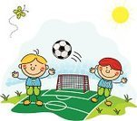 Soccer,Child,Child's Drawing,Football,Classroom,Symbol,Cheerful,Child Drawing,Cartoon,Group Of People,Smiling,Happiness