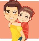 Father,Son,Child,Playing,Playful,Love,Vector,Family,Cartoon,Childhood,Smiling,Togetherness,Joy,Little Boys,Recreational Pursuit,Male,Men,Fun,Enjoyment,Sharing,Two People,Cute,Young Adult,Affectionate,Families,Lifestyle,Concepts And Ideas,Ilustration,Piggyback,Adult,Embracing,People,Illustrations And Vector Art,Feelings And Emotions,Carrying,Caucasian Ethnicity,Back,Cheerful,Happiness,Bonding,Riding