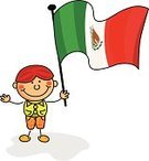 Mexico,Flag,Child's Drawing,Cartoon,Child,Symbol,Child Drawing,Classroom,Happiness,Smiling,Cheerful