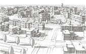Urban Scene,City,Sketch,Construction Industry,Architecture,Built Structure,Town,Building Exterior,Blueprint,Ilustration,City Life,Pencil Drawing,Technology,Street,Ideas,Drawing - Art Product,House,Residential District,Computer Graphic,Residential Structure,Inspiration,Tree,District,Concepts,Road Intersection,Horizon,Office Building,Business,Light - Natural Phenomenon,Creativity,Urban Skyline,Human Settlement,Outdoors,Group of Objects,Motivation,Industry,Architecture And Buildings,Black Color,Image,Paintings,Elegance,Window,Imagination,Glass - Material,Road,Mansion,Roof,Illustrations And Vector Art,Shape,Style,Design,Town Square,Design Element