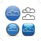 Blue,Icon Set,Cloud - Sky,Cloud Computing,Interface Icons,Symbol,Computer Icon,White,Shiny,Internet,Label,Shade,Downloading,Allegory Painting,Overcast