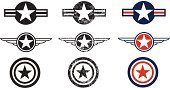 Armed Forces,Military,Symbol,Air Force,Insignia,World War II,Air Vehicle,Airplane,Vector,War,Fighter Plane,US Military,Military Airplane,Collection,Multiple Image,Set,Arrangement,Design,Ilustration,Military Air Vehicle,Group of Objects