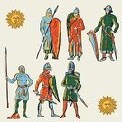 Medieval,People,The Sun,Pattern,Newcastle Knights,History,Army,Men,Contour Drawing,Vector,Sword