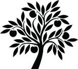 Tree,Apple Tree,Silhouette,Apple - Fruit,Leaf,Vector,Ilustration,Branch,Simplicity,Black Color,Ornate,Ornamental Garden,Growth,Design Element,Plant,Abstract,Tree Trunk,Bush,Environment,Season,Floral Pattern,Springtime,Botany,Environmental Conservation,Treetop,Nature,Summer,Beauty In Nature,Scroll Shape