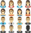 Avatar,Computer Icon,Symbol,user,Businessman,Icon Set,Women,Businesswoman,Vector,Eyeglasses,Abstract,Men,Unrecognizable Person,Illustrations And Vector Art,People,Business,Vector Icons,Business,Ilustration,Isolated,Isolated On White