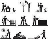 Planting,Mowing,Symbol,Tree,Silhouette,Farm,Lawn,Occupation,Summer,People,Sign,Irrigation Equipment,Men,Grass,Flower,Dog,Outdoors,Care,Ilustration,Concepts,Nature,Environment,Design,Cute,Springtime,Illustrations And Vector Art,Lifestyles,People,Collection,Shape,Life,Computer Graphic,Painting,Cartoon,Vector Icons,Vector,Black Color,Plant,Set,Autumn,Rabbit - Animal