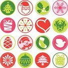 Christmas,Christmas Stocking,Symbol,Christmas Decoration,Seal - Stamp,Dove - Bird,Deer,Christmas Tree,Holiday,Snowman,Christmas Ornament,Celebration,Gift Box,Holidays And Celebrations,Santa Claus,Holiday Symbols,Illustrations And Vector Art,Christmas,Vector Icons,seamless pattern,Snowflake,Pink Color,Green Color,Red