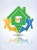 House,Abstract,Design Element,Paper,Document,Sign,Internet,Real Estate,Vector,No People,Distance Marker,Cartography,Insignia,Map Pin,Design,Web Element,Map,Vector Icons,Map Marker,Illustrations And Vector Art,Symbol,Blue,Architecture,Computer Icon