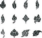 Thailand,Thai Culture,Thai Ethnicity,Pattern,Art,Symbol,Computer Icon,Leaf,Silhouette,Design,Design Element,Vector,Ilustration,Thai Motifs,Illustrations And Vector Art,single leaf,Thai Style,Icon Set,Thai Art,East Asian Culture,Visual Art,Isolated On White,Style,Arts And Entertainment,Thai Pattern,Vector Icons,Nature,Clip Art,White Background