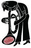 Jazz,Brass Instrument,Trumpet,Bugle,Nightclub,Men,Blowing,Brass,Blues,Music,Musical Instrument,Musician,Holding,Arts And Entertainment,Play,Male,Human Finger,Adult,White,One Person,Artist,Vector Cartoons,Lifestyles,Facial Expression,Performer,Emotion,Elegance,Illustrations And Vector Art,Sign Language,Skill,Human Hand,Isolated On White,Black Color,Music,Playing,Isolated,People,Sound,Ilustration,Red