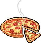 Pizza,Slice,Pepperoni,Salami,Eating,Italian Culture,Heat - Temperature,Speed,Snack,Pastry Crust,Cultures,Lunch,Cheese,Chopped,Baking,Food And Drink,Pastry,Baked,Sauces,Chopping,Dinner,Sausage,Food,Illustrations And Vector Art,Tomato,Red,Gourmet,Meal,Dough,Cooked,Mozzarella