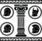 Classical Greek,Greek Culture,Pattern,Roman,Architectural Column,Sparta,Work Helmet,Symbol,European Culture,Fantasy,Ilustration,Barbarian,Stencil,Style,Ionic,Set,Design,Arts And Entertainment,Ancient,Ancient Civilization,Vector,Antique,Black Color,Majestic,Success,Classical Style,Protection,Illustrations And Vector Art,History,The Past,Isolated Objects,Classic,Cultures,Old,Military