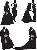 Cut Out,Computer Graphics,People,Formalwear,Well-dressed,Love,Bouquet,Togetherness,Life Events,Vertical,Studio Shot,Full Length,Black And White,Side View,Bride,Bridegroom,Walking,Standing,Carrying,Heterosexual Couple,Engagement,Wedding,Cultures,Silhouette,Kissing,Adult,Multiple Image,Cut Out,Wedding Ceremony,Outline,Wedding Dress,Illustration,Celebration,Religious Veil,Two People,Males,Men,Females,Women,Vector,Full Suit,Single Flower,White Background,Adults Only,Couple - Relationship,Husband,Wife,Newlywed,Clip Art,Silhouette