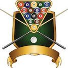 Pool Game,Design,Pool Cue,Insignia,Sport,Leisure Games,Shield,Eight Ball,Ilustration,Banner,Rack,Illustrations And Vector Art,Individual Sports,Sports And Fitness,Concepts And Ideas,Ribbon,Ball