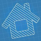 Blueprint,Symbol,House,Computer Icon,Real Estate,Abstract,Paper,Backgrounds,Design,Striped,Architecture,Graph Paper,Architecture And Buildings,Illustrations And Vector Art,Homes,No People,Vector,Blue