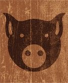 Pig,Pork,Livestock,Grunge,Symbol,Distressed,Damaged,Animal,Sign,Vector,Ilustration,Farm Animals,Illustrations And Vector Art,Peeling,Computer Graphic,Animals And Pets