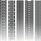 Tire Track,Dirt Road,Car,Tire,Road,Track,Railroad Track,Collection,Dirty,Black Color,Highway,Transportation,Illustrations And Vector Art,Transportation,Isolated On White,Isolated Objects,Vector Backgrounds,Grunge,Set,Mode of Transport,Dirt