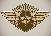 Viking,Computer Graphic,Coat Of Arms,Cartoon,Warrior,Artificial Wing,Men,Work Helmet,Retro Revival,Human Hair,Vector,Male,Ilustration,Shield,Single Object,Human Face,Horned,Ideas,Danger,Furious,Real People,Label,Badge,Barbarian,Insignia,Design,Art,Anger,Human Head,Beard,Concepts,Style